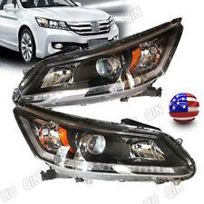 Pair Headlamps Headlights For 2013 2015 Honda Accord Sedan Leftright Side Lamps