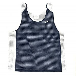 New-Nike-Reversible-Mesh-Tank-Women-039-s-S-M-Lacrosse-Training-Jersey-Blue-White