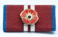 Poppy Badge 2012 Queen Elizabeth II Diamond Jubilee Medal Full Size Ribbon.