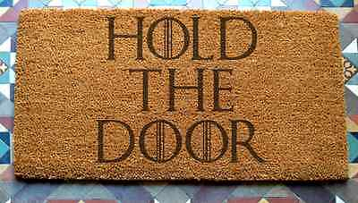 Hodor Hold The Door Door Mat 400 x 600 mm