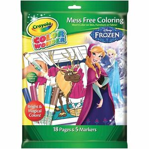 Image Is Loading Crayola Disney Frozen Color Colour Wonder Mess Free