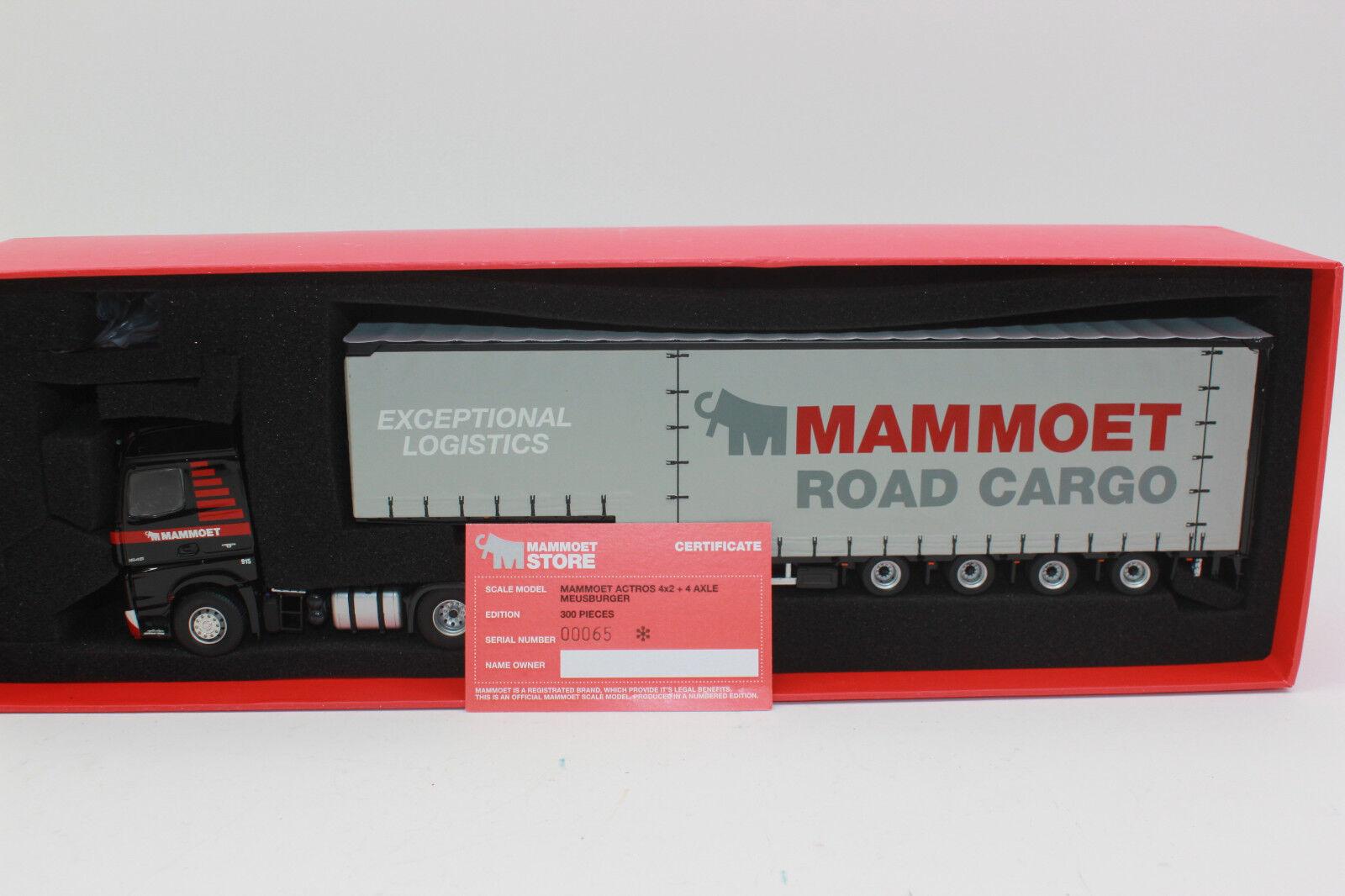 Imc 310136 Mammoet Actros 4x2 con 4 Ejes Semirremolque Meusburger 1 50 Nuevo