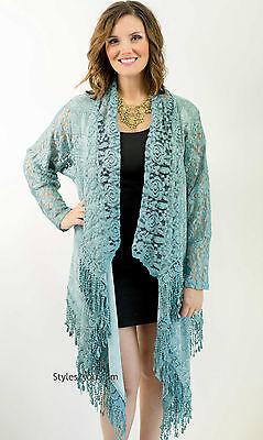 NWT  Pretty Angel Clothing Apparel Darlene Open Cardigan In Blue  81392