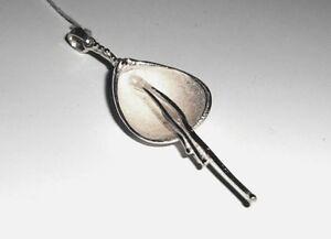 Unikat-Silber-Anhaenger-Bluete-925-Sterling-Silber-Neu-Handarbeit-Flower-Pendant