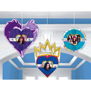 Image Is Loading DESCENDANTS 2 HONEYCOMB DECORATIONS 3 Birthday Party Supplies