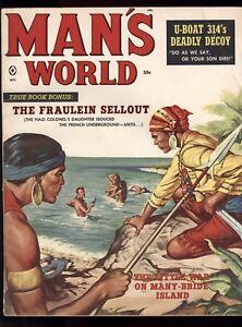 Man's World Oct 1959 Charles Copeland Cover Jack Rickard