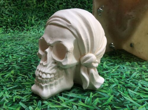 LATEX ONLY MOULD SKULL 16CM LONG ORNAMENT MOULD