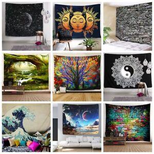 US-Stock-Hippie-Psychedlic-Tapestry-Room-Wall-Hanging-Mandala-Tapestry-Decor