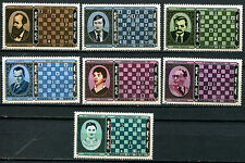 Mongolia Chess Complete Mint Set Of 7 (Brown Gum)
