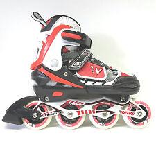 Weing Inline Skate verstellbare Kinder Inliner Skate rot Gr. 34-37 Abec 7 - LED