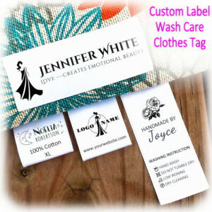 Custom-Printed-Satin-Ribbon-Fabric-Label-Sew-On-Clothes-Name-Brand-Tag-Wash-Care