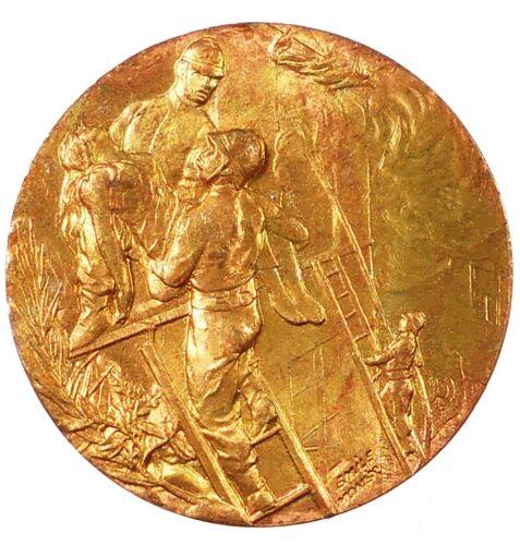 France FIRE FIGHTING AWARD bronze 36mm