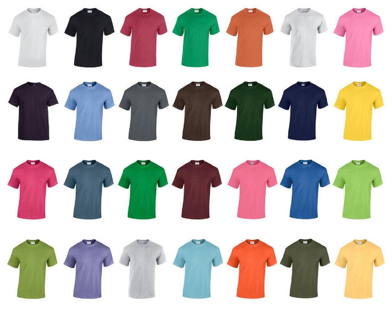 BULK BUY 50 Gildan 100% Heavy Cotton T Shirts WHOLESALE Joblot Job Lot Colours