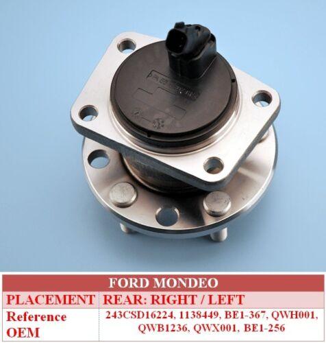 Ford Mondeo JAGUAR X TYPE 2000-ON Rear Hub Wheel Bearing Kit Inc Abs Sensor