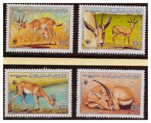 Libye-Weltweiter-Conservation-Dunengazelle-Minr-1753-1756-1987