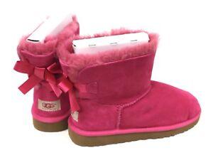 Ugg-Australia-Kids-MINI-BAILEY-BOW-Cerise-Pink-1005497-Youth-Sheepskin-Boots
