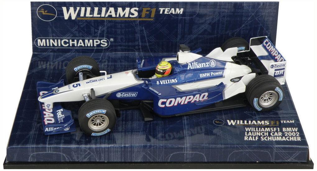 Minichamps Williams F1 BMW Launch Car 2002 - Ralf Schumacher 1 43 Scale