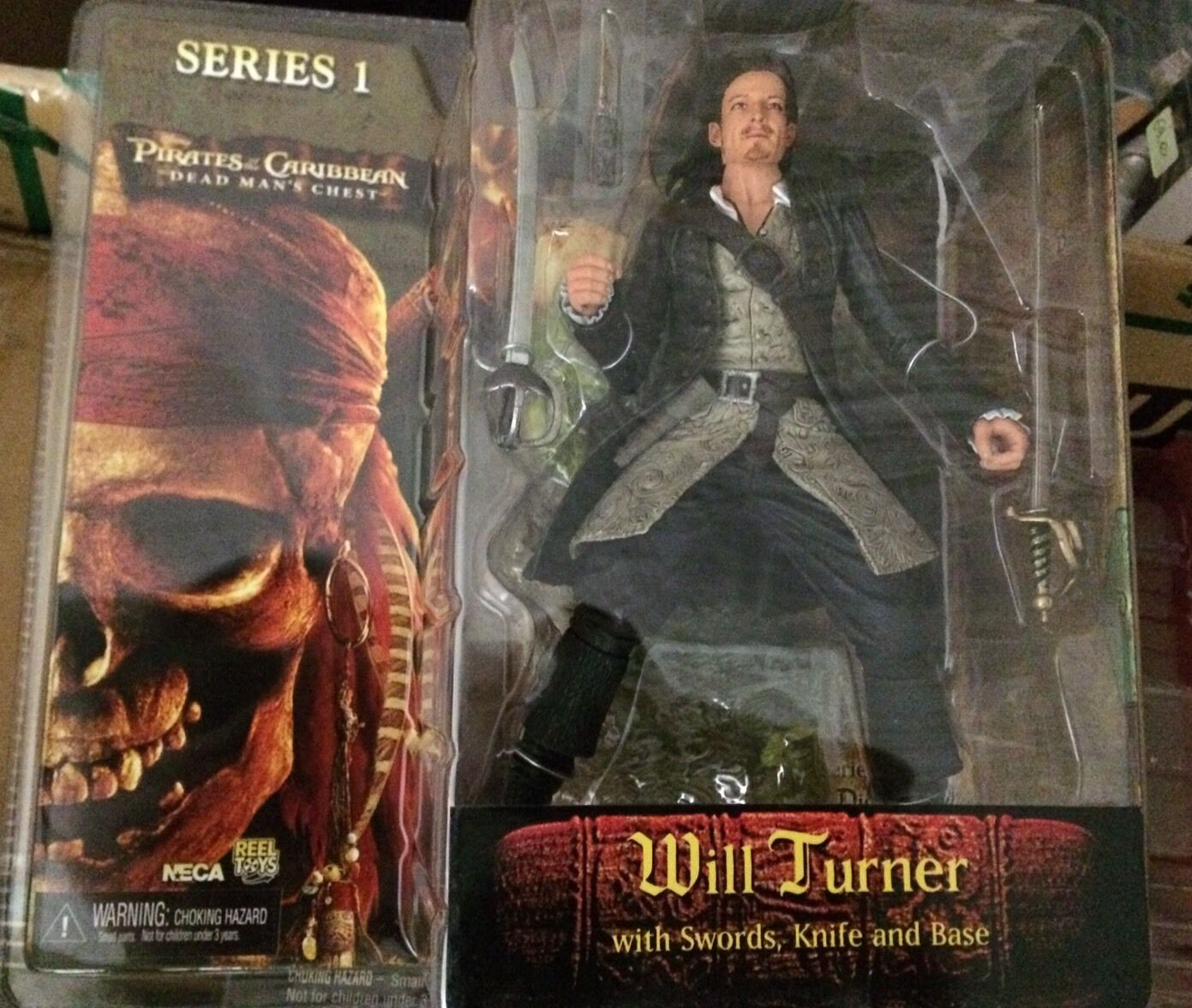 Neca Pirates of caribbean serie 1 Will Turner with sword, knife and base