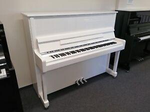 Klavier-Feurich-122-Weiss-Chrom-NEU-inkl-Bank