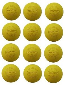 New-Martin-Dozen-12-Official-Lacrosse-Balls-NFHS-NCAA-NOCSAE-Approved-Yellow