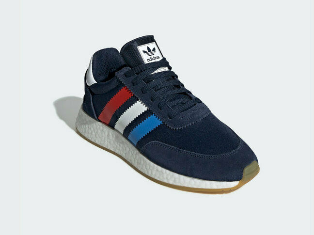 Adidas Original Mens Navy bluee I- 5923 shoes White  Navy  Red