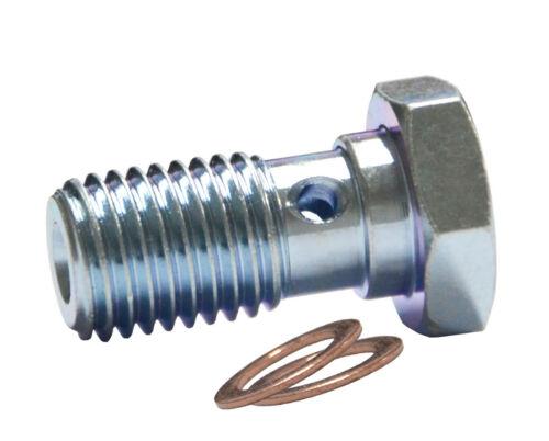 M10x1mm Banjo Bolt Zinc Custom système de frein AN-3 Raccord 14 mm LONG fil