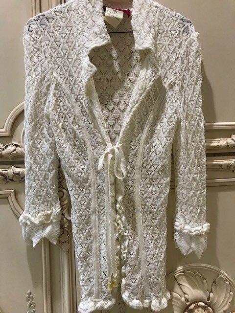 Christian Lacroix Ivory White Sz S Lace Top- Beautiful