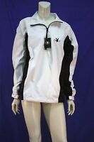Mens All Weather Tech Jacket Playboy Golf Pullover Zip Neck Polyester Windbreak