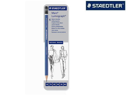 6x Staedtler Mars® Lumograph® Bleistift verschiedene Härten 100 G6 NEU/&OVP