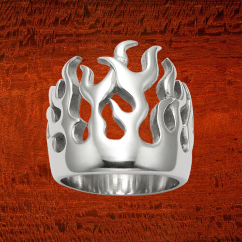 Sterling Silver Wildfire flammes Ring-R363