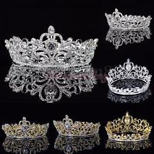 Crystal Rhinestone Queen Crown Tiara Wedding Pageant Bridal Diamante Headpiece