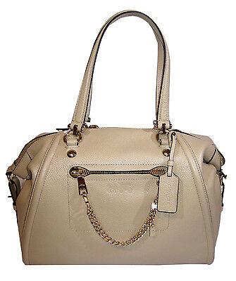 coach 34362 prairie chain satchel handbag in pebble leather nude rh ebay com