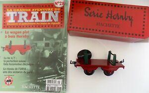 la-grande-aventure-du-TRAIN-HORNBY-HACHETTE-collection-n-28-wagon-plat-a-bois
