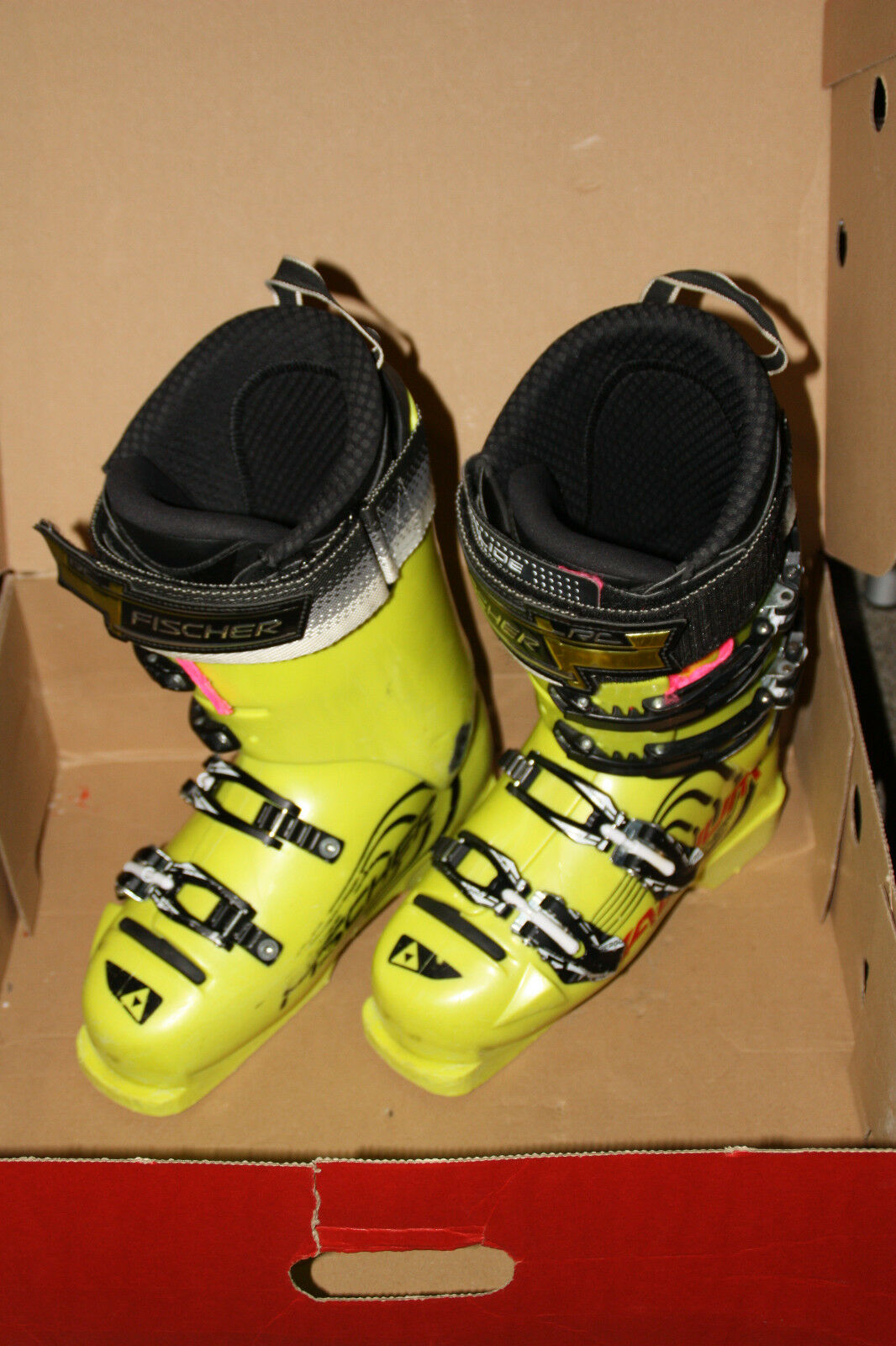 Fischer Rennski Skischuhe RC4 130 Pro 24 24,5 ca. 37 37,5 yellow mit Gurt