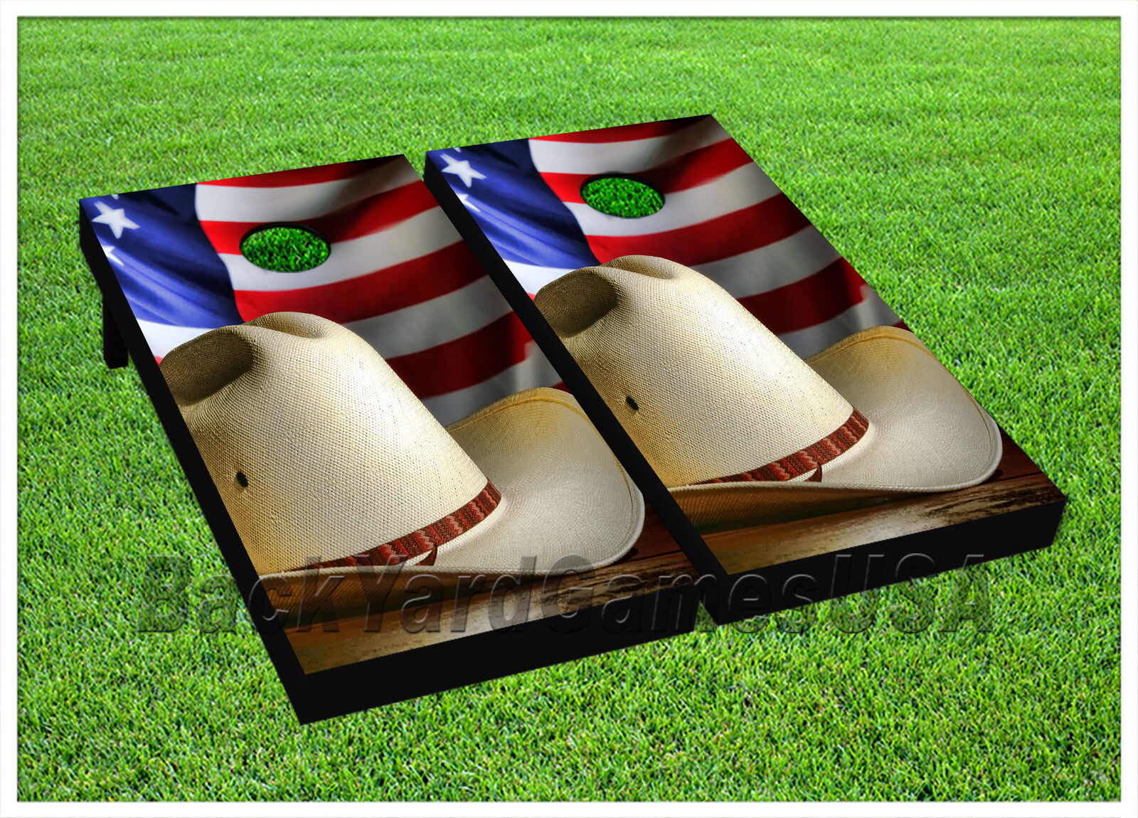 CORNHOLE BEANBAG TOSS  GAME w Bags Game Board America USA Cowboy Red bluee Set 732  free shipping