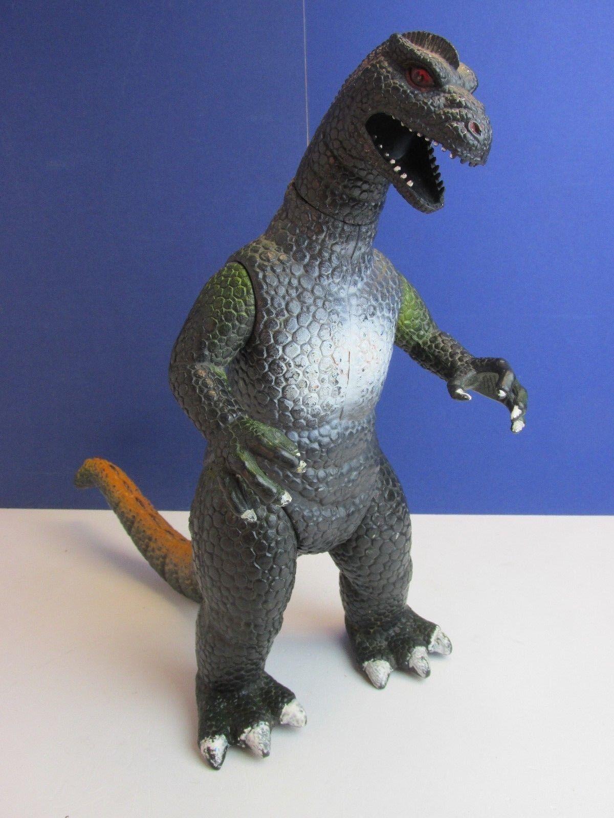Large VINTAGE rare GODZILLA 15  ACTION FIGURE DOR MEI 1986 dinosaur lizard 83R