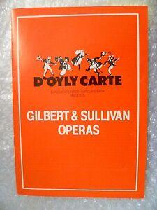 1981 Gilbert & Sullivan's Operas Programme IOLANTHE,RUDDIGORE,MIKADO Etc