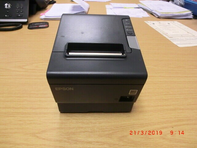 Black Epson Tm-t88v Thermal Receipt Printer M244a USB Serial PSU