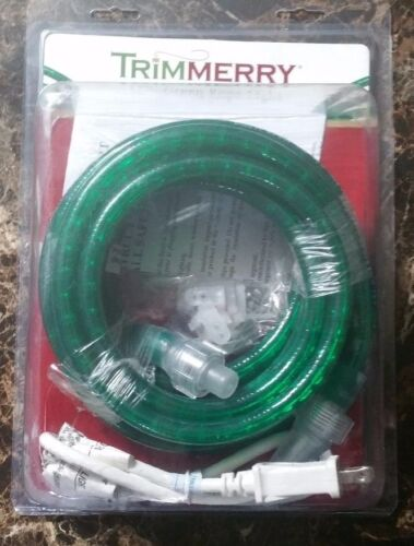 Trimmerry Indoor//Outdoor 18 ft Green Rope Light NIB Mounting Hardware Included