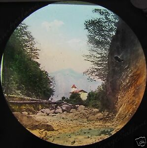 Glass-Magic-Lantern-Slide-GORGE-SALLANCHO-C1890-SWITZERLAND