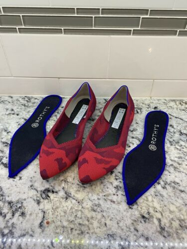 Rothys 8.5 point RED CAMO Women's Shoes Comfortabl
