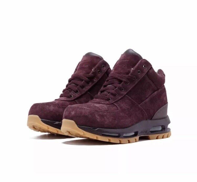 Nike Air Max ACG Goadome Boots Rare Sz 9.5 599474-600 Deep Burgundy Suede