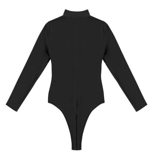 Femme Body Sculptante Lingerie Ouvert Entrejambe Zip Sous-Vêtements Clubwear