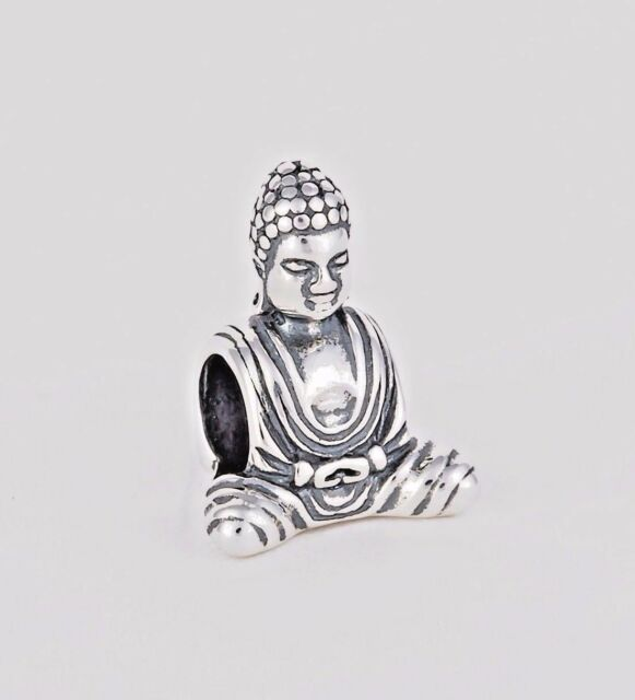 Smiling Buddha Charm For Bracelet,Silver Meditation Charm