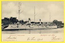 cpa Rare 17 - ROCHEFORT SUR MER en 1904 CROISEUR Protégé LE SURCOUF Navy Cruiser