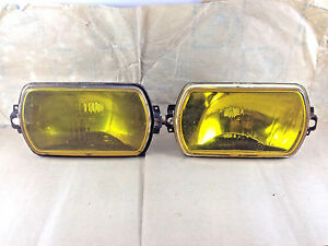 CIBIE IODE 95 FOG DRIVING LIGHT PAIR X2 BRAND NEW IN BOX NOS AMBER 450152