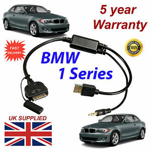 BMW X1 Series (611204407) For Apple 3GS 4 4S iPhone iPod USB & 3.5mm Aux Cable
