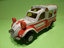 TIN TOYS BLECH  OBERTOYS CITROEN 2CV BREAK AMBULANCE - FRICTION - GOOD CONDITION