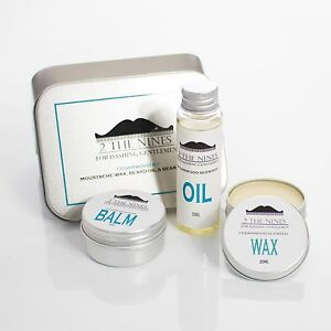 2 the nines moustache wax beard oil balm grooming kit classic cedarwood ebay. Black Bedroom Furniture Sets. Home Design Ideas