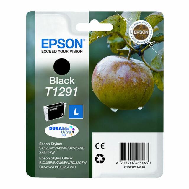 Genuine Epson T1291 1291 Apple Ink Black for Stylus BX305 SX235 SX425 SX445